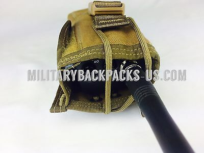 NEW USMC Tactical Military Coyote Brown Assault Molle Radio GPS Pouch Carrying
