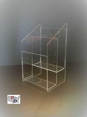 Acrylic Greeting Card Display 2 Tier Counter Top Retail Display Shelf