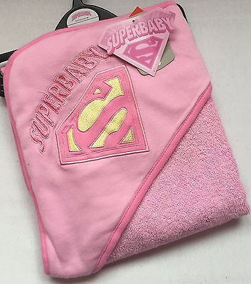 BABY GIRLS PINK SUPERBABY HOODED BATH TOWEL - Tu - Brand New With Tags - Mint