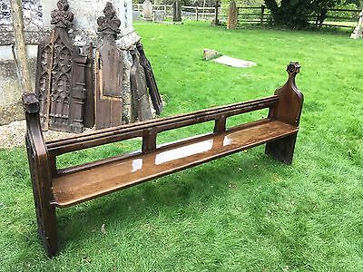 Oak Pew / Bench - Victorian (1850s)