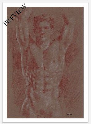 Nude Male Figure Limited Edition Giclee On Glossy Paper 5X7 Print
