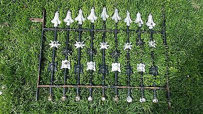 Antique Cast Iron Window Cover Grate Garden Basement Ornate in Old Paint
