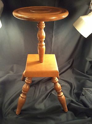 Vintage Wood Candle Side Table