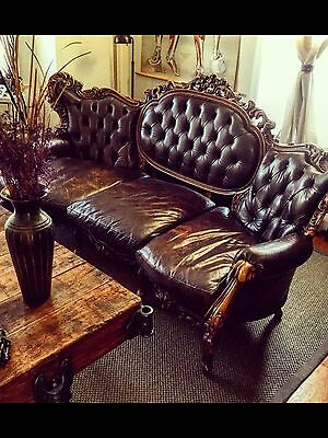 17 century sofa gorgeous Gothic rococo with whiskey leather