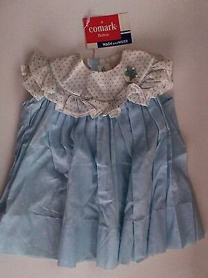 Vintage Girls Blue and White Cotton Dress