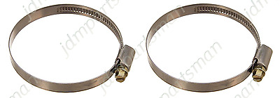 Narrow Band 9mm Steel Hose Clamp 80-100mm  Made in Germany Pack of 2  HC80-100//9