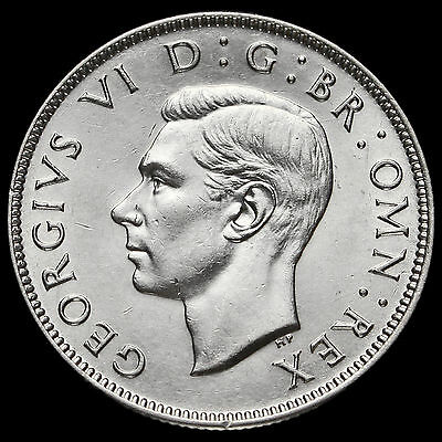 1945 George VI Silver Two Shilling Coin / Florin, G/EF #2