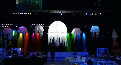 Inflatable party event decoration star medusa with LED RGB, wedding
