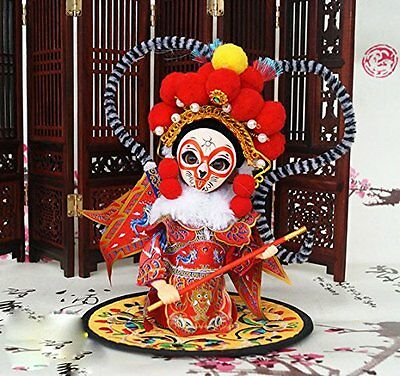 """6'' Peking Opera Q Version Doll """"the journey to the west"""" Monkey King Sun Wukong"""