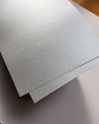 Silver (Blue-Grey Tint) Sheen Metallic Paper 120GSM (Pack of 25) - 20cm x 10.5cm