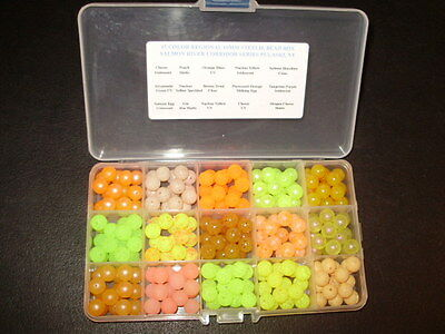 15 Color REGIONAL 10mm Trout Bead-SALMON RIVER BOX  FREE BEADS INCLUDED! $12.75!