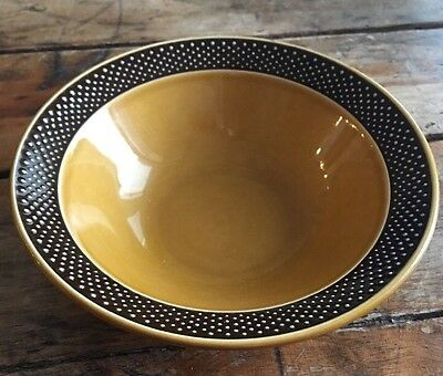 Vintage HARMONY HOUSE AURORA Cereal Bowl Brown Dots Ironstone 4267