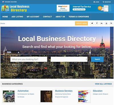 Business Directory - Website for Sale Hosting Included