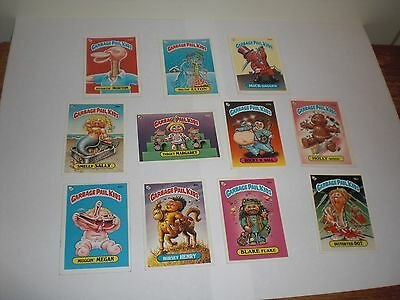 Garbage Pail Kids UK Mini series x 11 assorted mostly series 3+4  Rare Topps GPK
