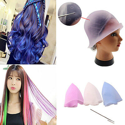 Top Sale Reusable Silicone Hair Coloring Highlighting Dye Cap Hair Styling Tool