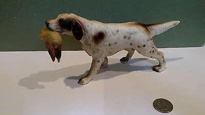 Vintage Norcrest English Setter Hunting Dog with Duck #A431