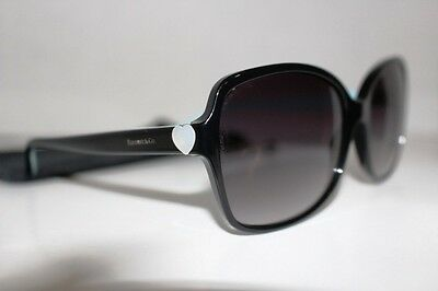 Tiffany &co. Sunglasses 4085-H 8001Black With Heart Size58/17 135 Made In Italy