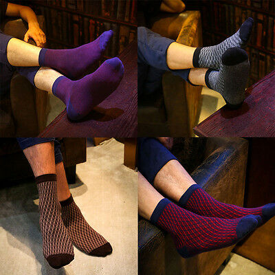 5pairs Men's Casual Soft Cotton Ankle Socks Mixed Color One Size Multi-Type Sock