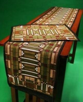 Arts & Crafts Table Runner Frank Lloyd Wright Skylight by Rennie & Rose
