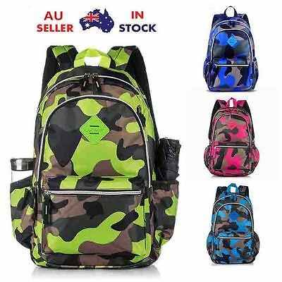 Camo Kids Backpack Rucksack Boys Girls Childrens School Bag Backpacks Bags AU
