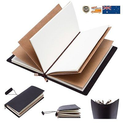 Handmade Genuine Leather Retro Notebook Journal Diary Notepad Sketchbook Gifts