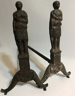 Antique Cast Iron Fire Dogs