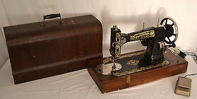 Antique WHITE ROTARY SEWING MACHINE in CASE CLEAN NO RUST! Ships FAST!