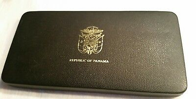 PANAMA 1975 9 COINS PIECE PROOF SET 20 BALBOA IN ORIGINAL PACKAGING with COA