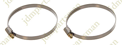 Made in Germany Pack of 2   HC32-50//9 Narrow Band 9mm Steel Hose Clamp 32-50mm
