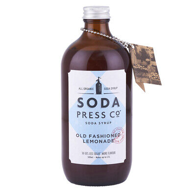 NEW Soda Press Co Old Fashioned Lemonade Syrup 500ml