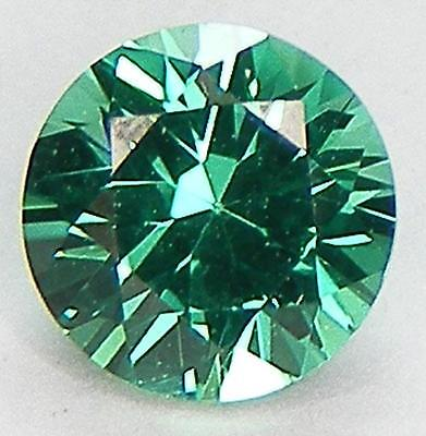 0.64Ct. Excellent Cut Round Brilliant 5.7 Mm. Lab Created Nanocrystal Emerald