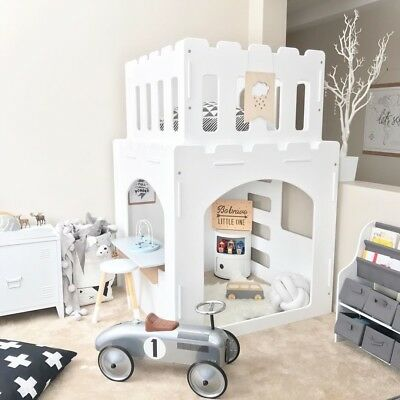 Castle Indoor Cubby House With Two Free Furniture!