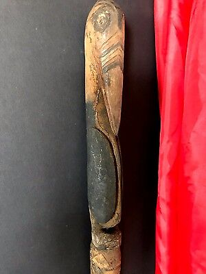 Old Papua New Guinea Abelam Carved Wooden Yam Peg / Stake …Circa 1960's... (A)