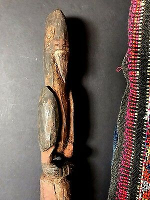 Old Papua New Guinea Abelam Carved Wooden Yam Peg / Stake …Circa 1960's... (B)