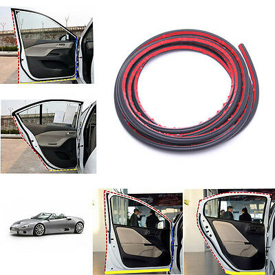 4M Small D-shape Car Door Rubber Weather Seal EPDM Noise Insulation Weatherstrip