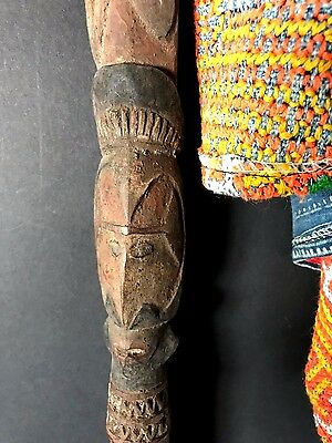 Old Papua New Guinea Abelam Carved Wooden Yam Peg / Stake …Circa 1960's... (C)