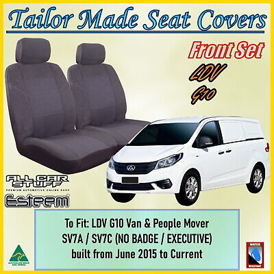 Tailor Made Grey Front Seat Covers with armrests - LDV G10 Van