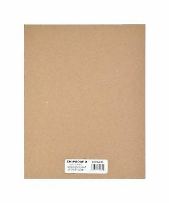 Grafix Medium Weight Chipboard Sheets, 4-Inch by 6-Inch, Natural, 25-Pack