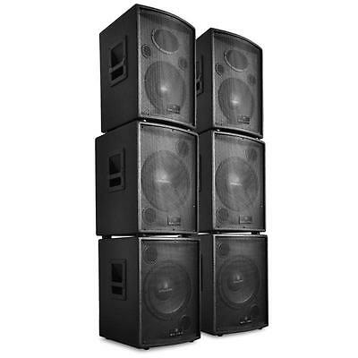 Professional Stage Speakers 7200W Active Loudspeaker Pa System Dj Bass Woofers