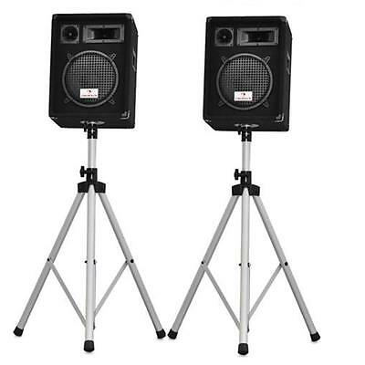 PRO DJ PA SPEAKER MONITOR STANDS STAGE SET 2m NON-SLIP