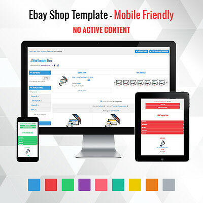 Professional Ebay Shop Template - Store Design Theme Responsive Mobile Friendly