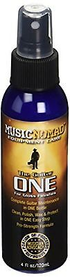 """MusicNomad The Guitar """"One""""-All in 1 Cleaner, Polish, Wax-4 Fl -Ounce"""