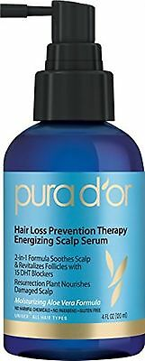 PURA D'OR Hair Loss Prevention Therapy Energizing Scalp Serum 4 Fluid Ounce