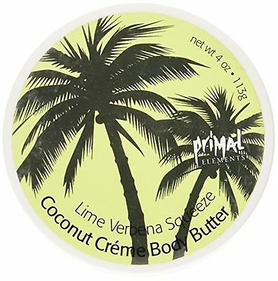 Primal Elements Lime Verbena Squeeze Coconut Cr?me Body Butter, 4-Ounce