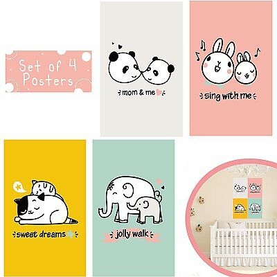 SET OF FOUR 11X17 WALL ART PRINTS FOR BABY ROOM DECOR & NURSERY DECOR - Baby For