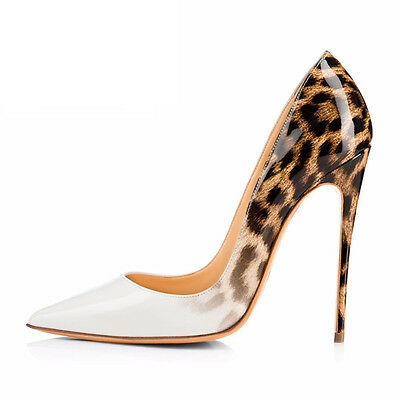 Women's Pointed Toe Stiletto High Heel Patent Leather Elegant Dress Party Pumps