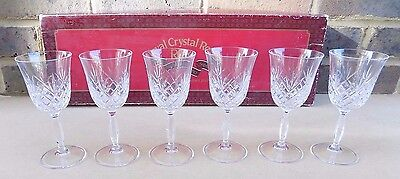 Set of 6 RCR Crystal Sherry Glasses