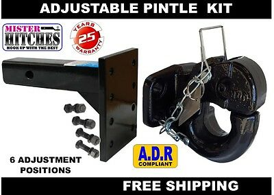 Pintle Hook 10 Tonne & Pintle Receiver Arm Hitch  - Tow Bar Trailer Towing