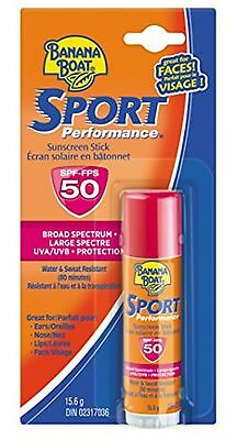 Banana Boat Sport Performance Stick for Face Protection, SPF 50, 15.6g