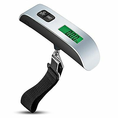 Alldio Travel Scale 50kg/110Lbs Electronic Digital Hanging Luggage Scale with...